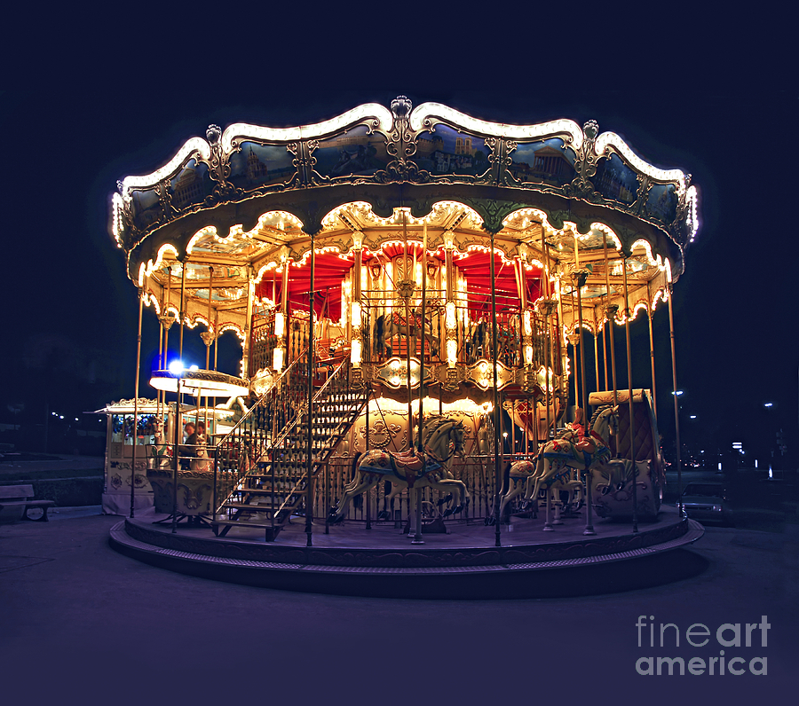 Carousel In Paris Photograph
