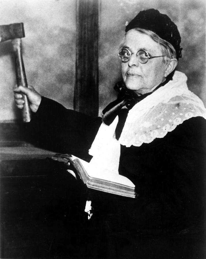Carrie Nation, Circa 1900 Photograph  - Carrie Nation, Circa 1900 Fine Art Print