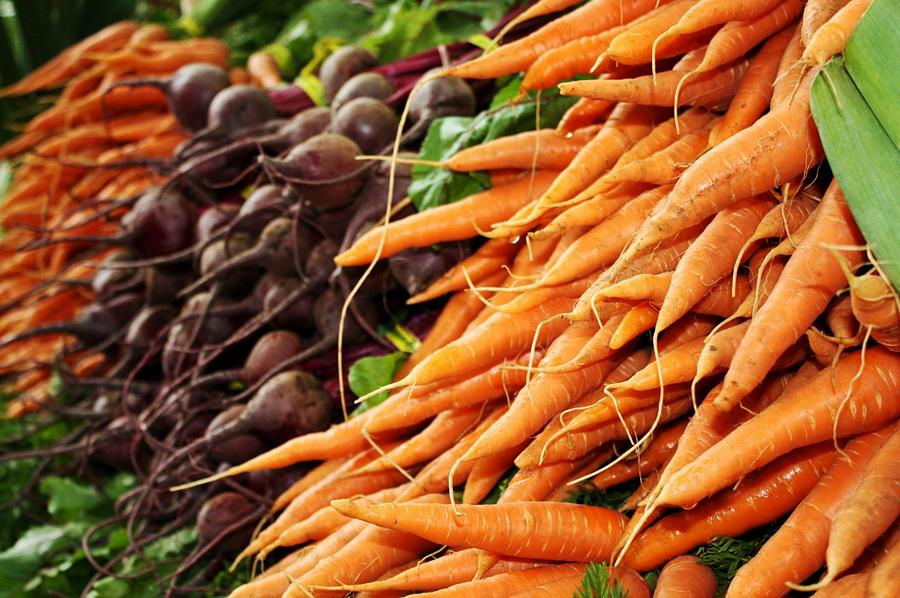Carrots And Beets Photograph