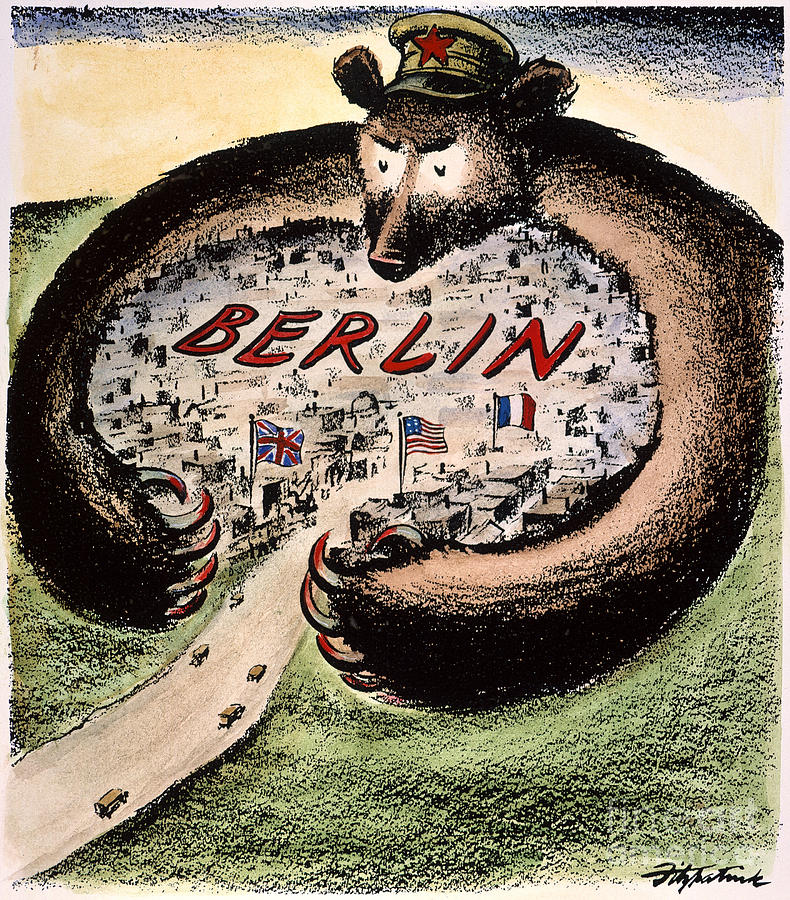 Cartoon: Cold War Berlin Photograph  - Cartoon: Cold War Berlin Fine Art Print
