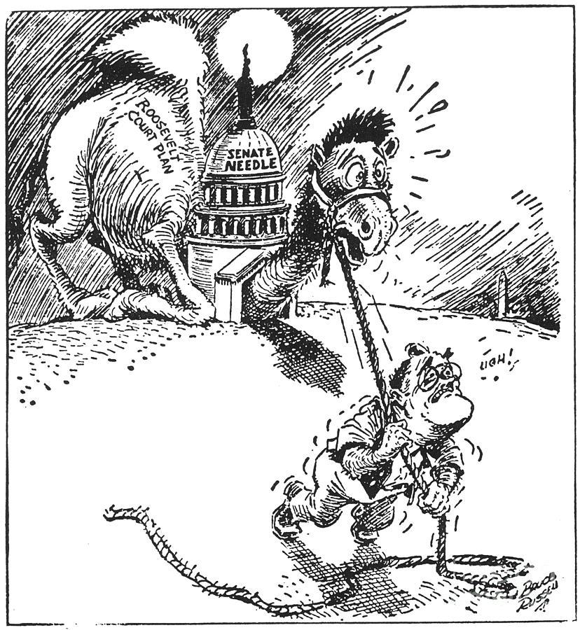 Cartoon: New Deal, 1937 Photograph