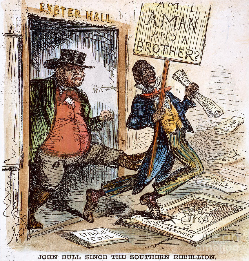 Cartoon: Slavery, 1861 Photograph