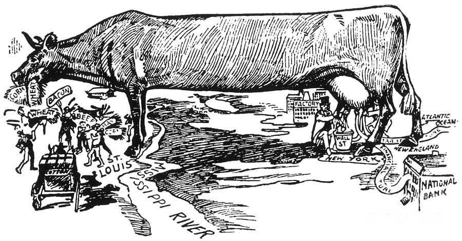 Cartoon: U.s. Farming 1896 is a photograph by Granger which was ...