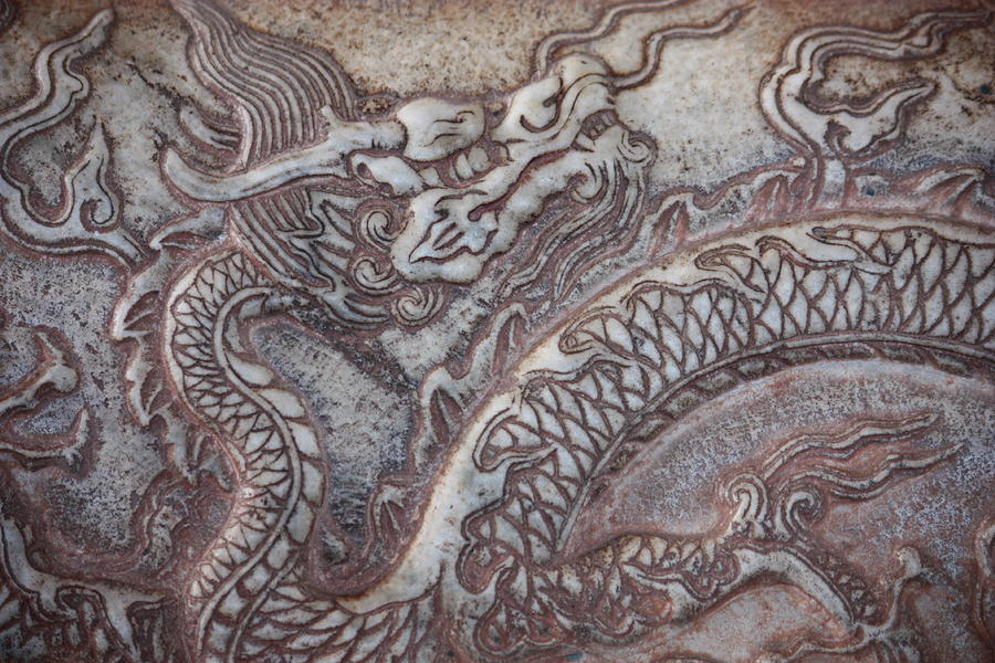 Carved Dragon Photograph  - Carved Dragon Fine Art Print