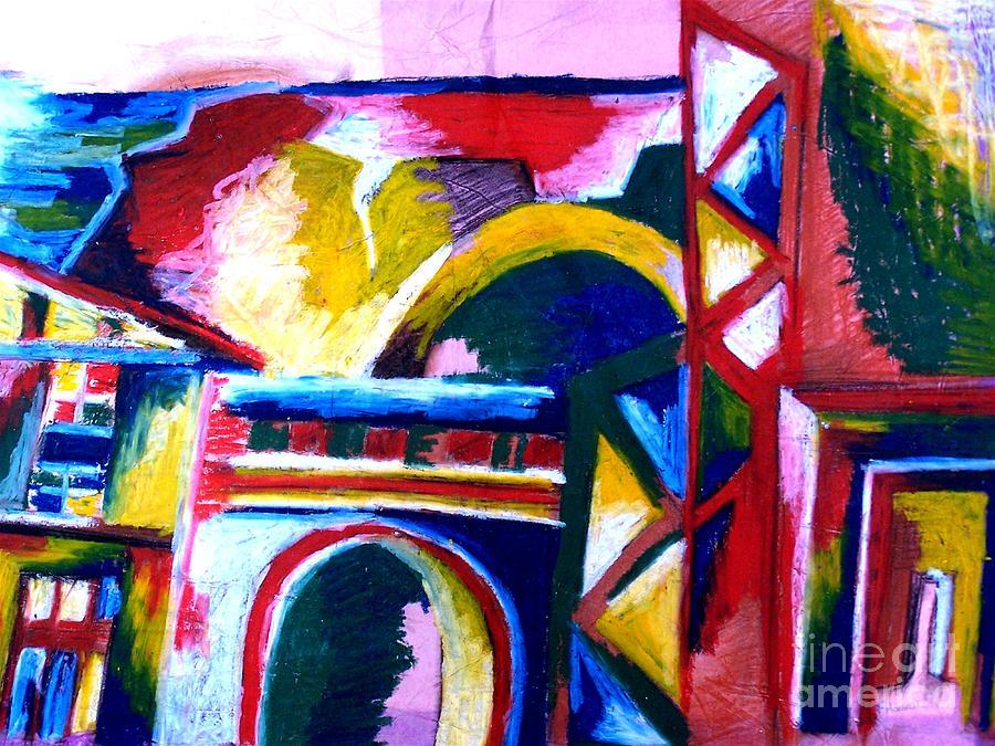 Faye Halsall Pastel - Casablanca by Faye Halsall