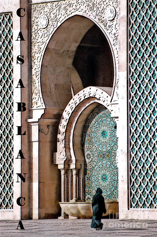 Casablanca Mosque Photograph  - Casablanca Mosque Fine Art Print