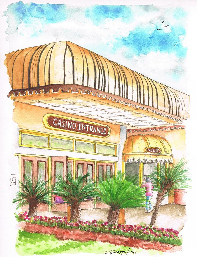 Casino-entrance-golden-nugget-hotel-laughlin-nv Painting  - Casino-entrance-golden-nugget-hotel-laughlin-nv Fine Art Print