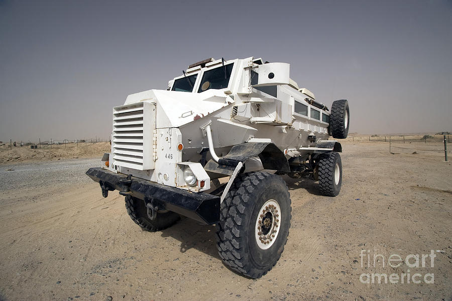 Casper Armored Vehicle Sits Photograph  - Casper Armored Vehicle Sits Fine Art Print