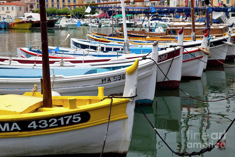 Colorful Photograph - Cassis Boats by Brian Jannsen