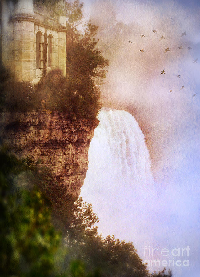 Castle At The Edge Of The Falls Photograph  - Castle At The Edge Of The Falls Fine Art Print