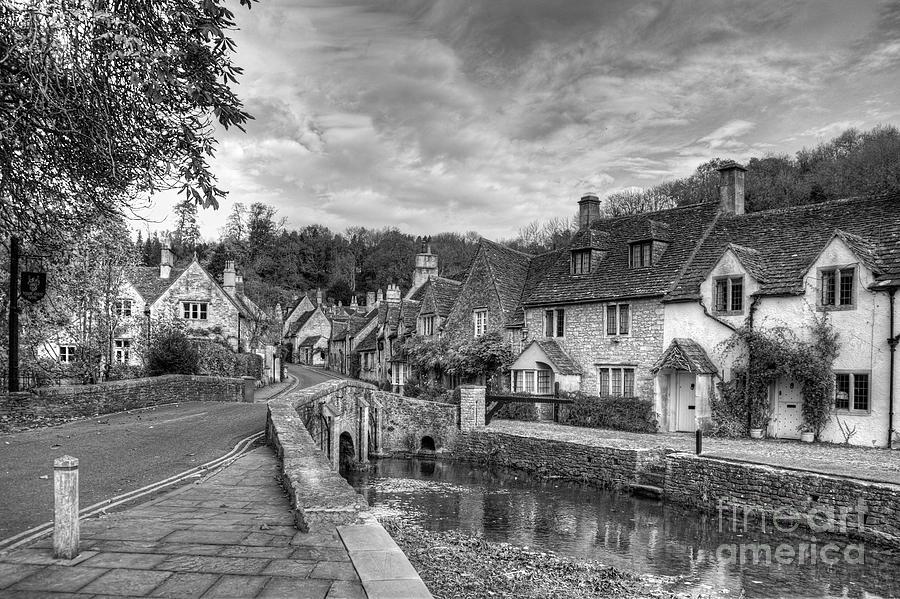 Castle Combe England Monochrome Photograph