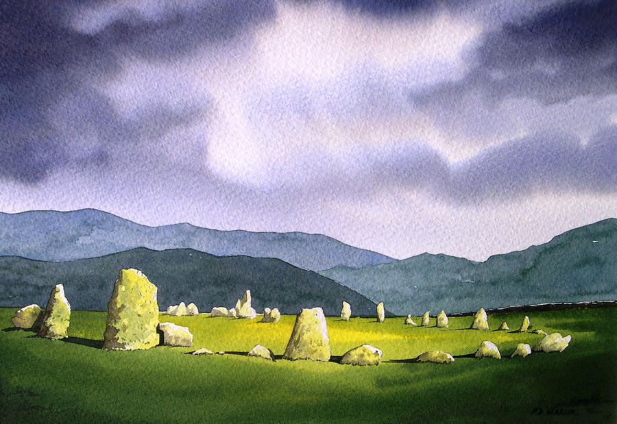 Castle Rigg Stone Circle Painting