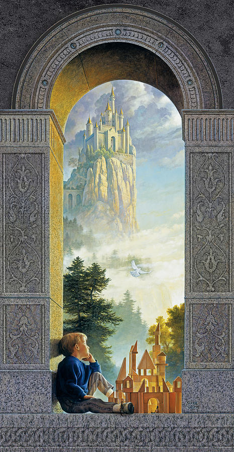 Castles In The Sky Painting