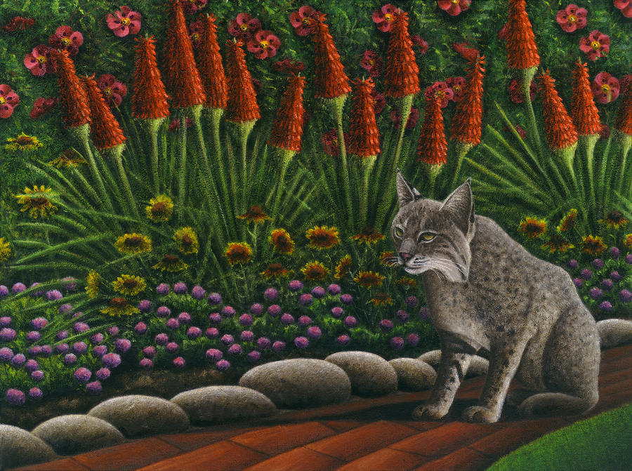 Cat - Bob The Bobcat Painting