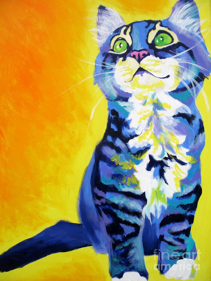 Cat - Here Kitty Kitty Painting