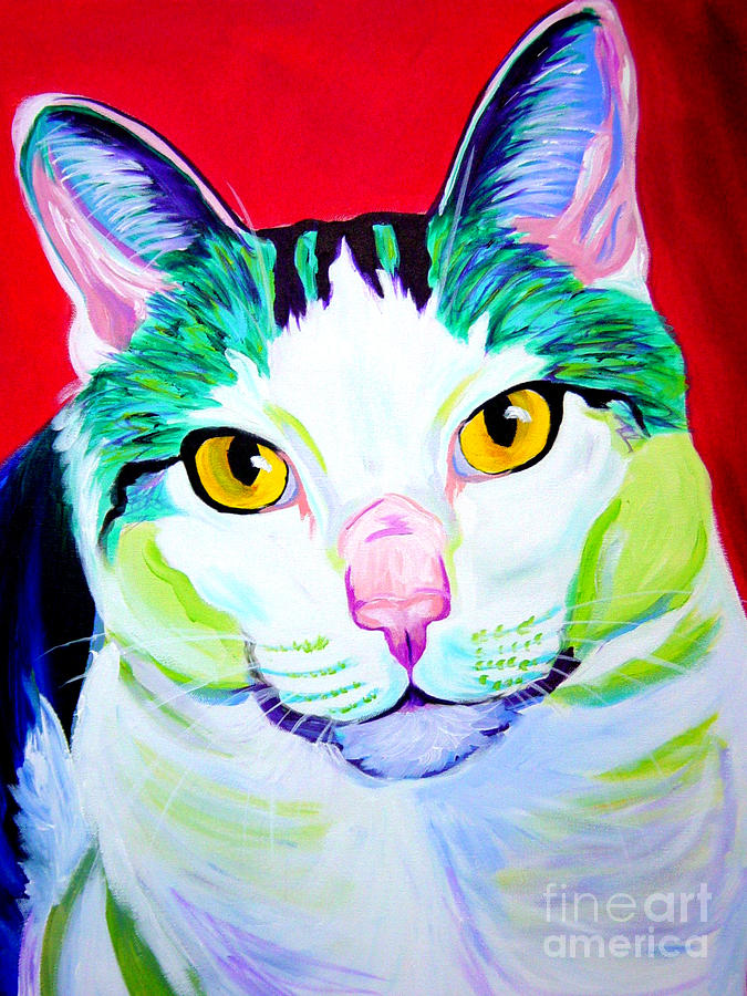 Cat - Zooey Painting  - Cat - Zooey Fine Art Print