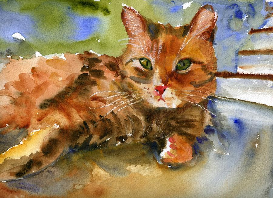 Cat King is a painting by Miriam Schulman which was uploaded on August ...