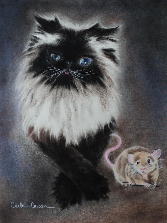 Cat N Mouse Say Cheeeeeeese Drawing