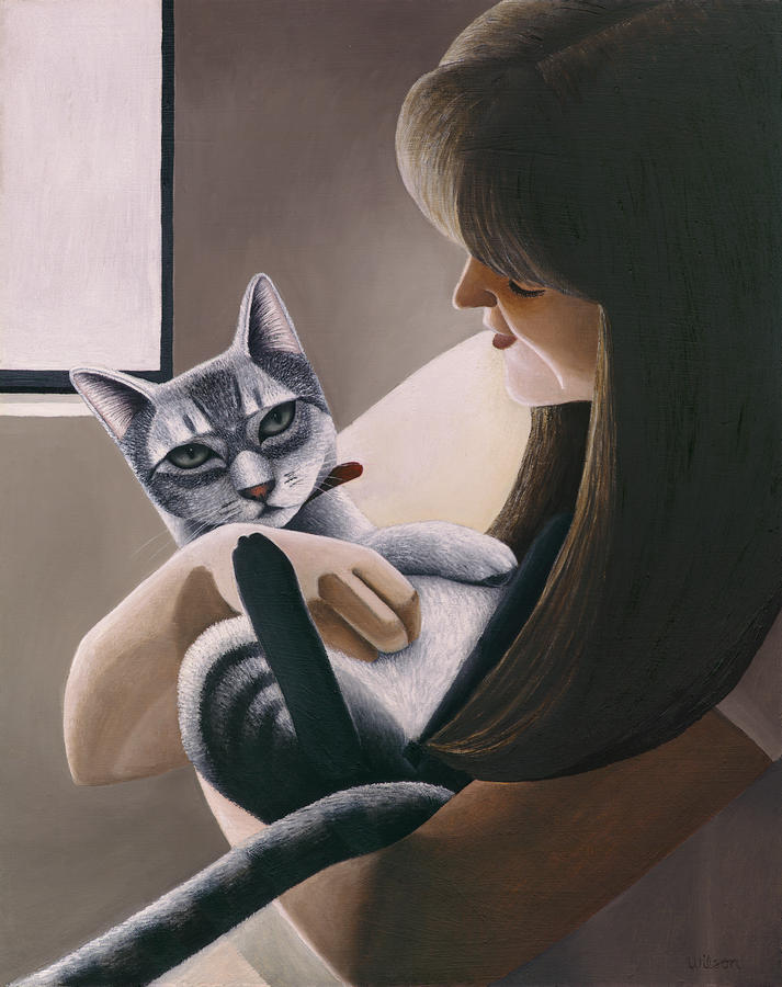 Cat Nestled Painting
