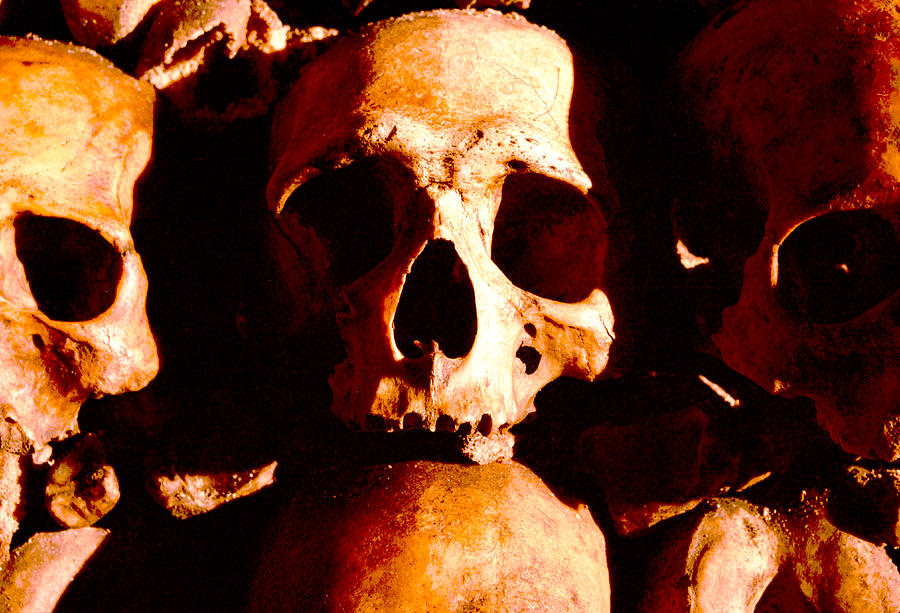 Catacombs In Paris Photograph