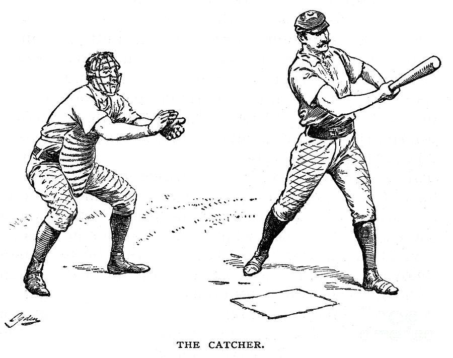 Catcher & Batter, 1889 Photograph