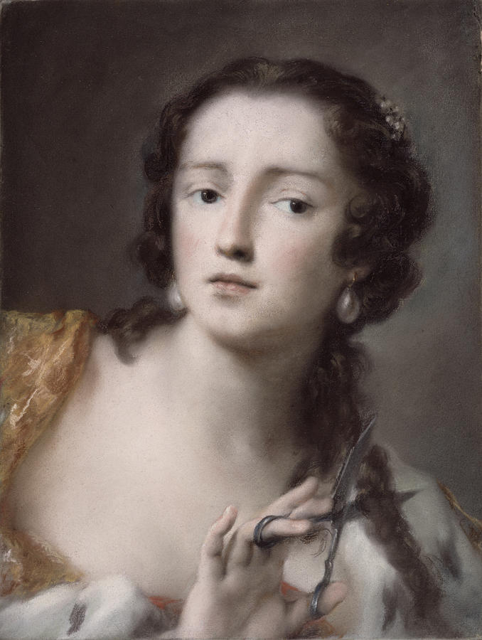 Caterina Painting - Caterina Sagredo Barbarigo As bernice by Rosalba Giovanna Carriera
