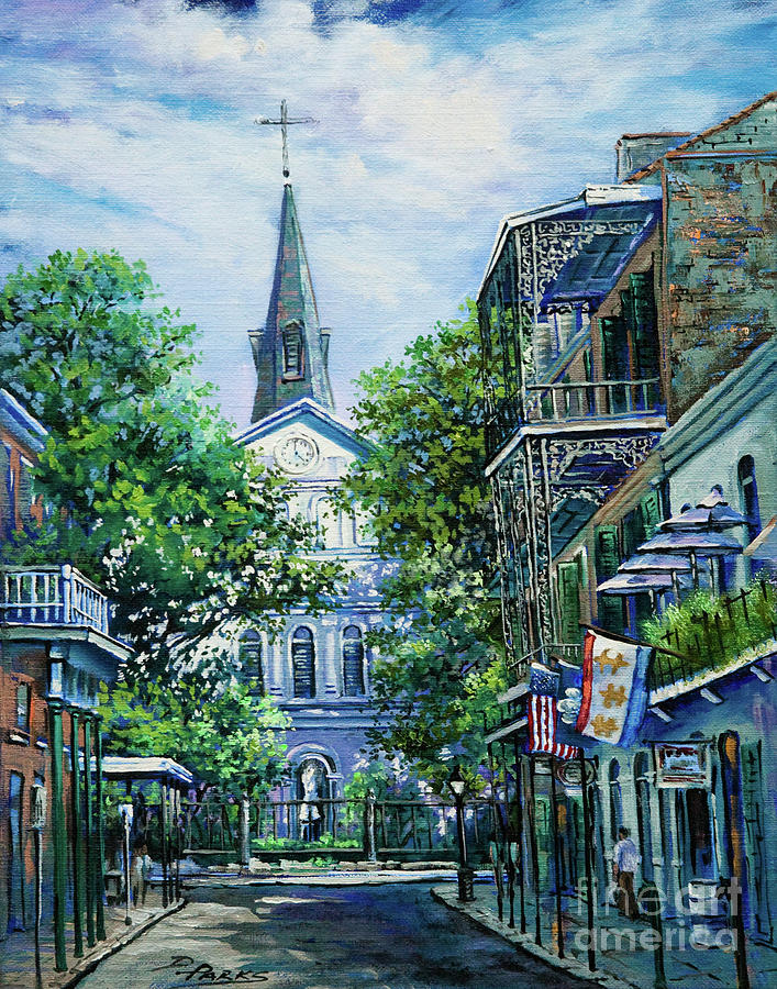 Cathedral At Orleans Painting  - Cathedral At Orleans Fine Art Print