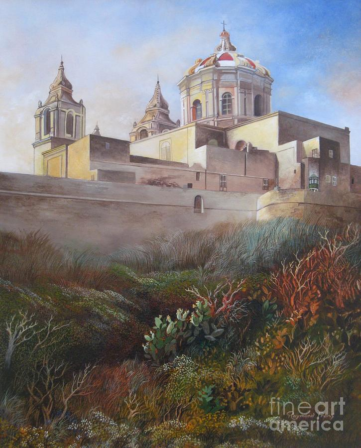 Cathedral Mdina Painting