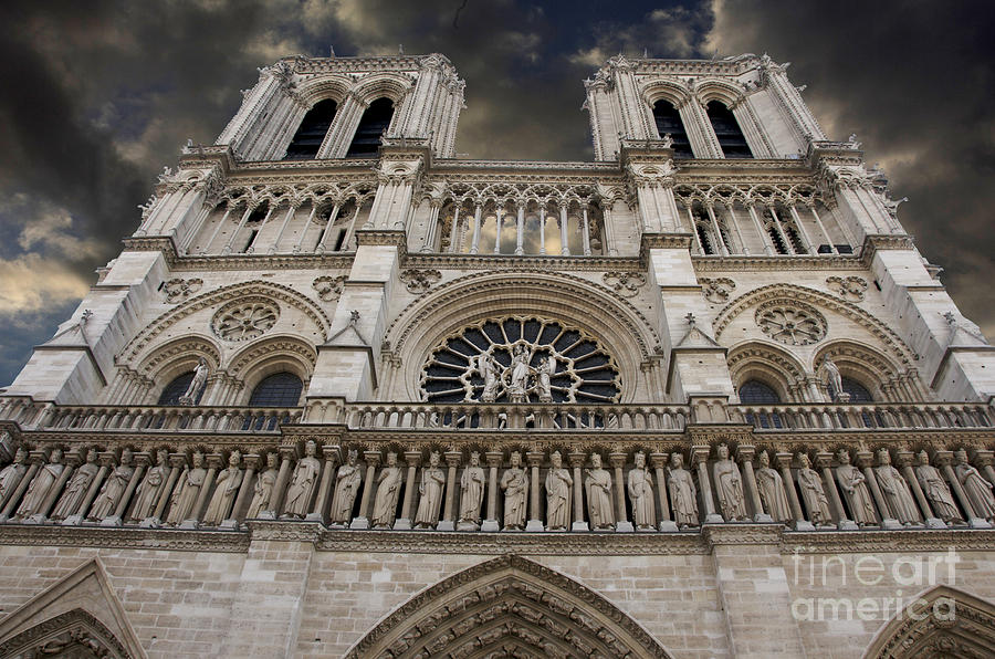 Cathedral Notre Dame Of Paris. France   Photograph  - Cathedral Notre Dame Of Paris. France   Fine Art Print