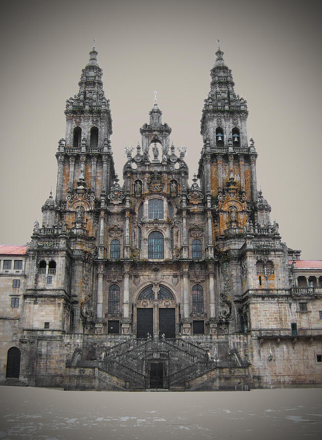 Cathedral Of Santiago De Compostela Photograph