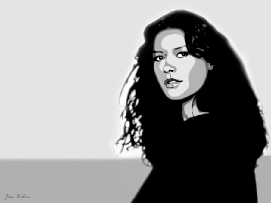 Catherine Zeta Jones 2 Digital Art