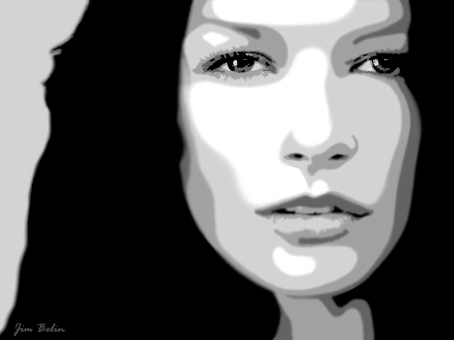 Catherine Zeta Jones 3 Digital Art  - Catherine Zeta Jones 3 Fine Art Print