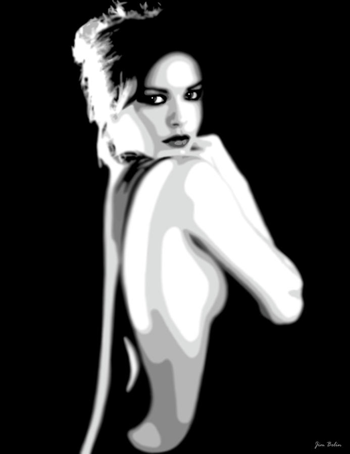 Catherine Zeta Jones 7 Digital Art  - Catherine Zeta Jones 7 Fine Art Print