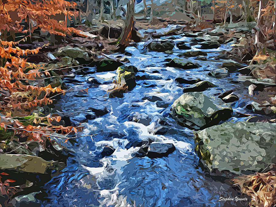Catoctin Mountain Park Digital Art - Catoctin Stream by Stephen Younts