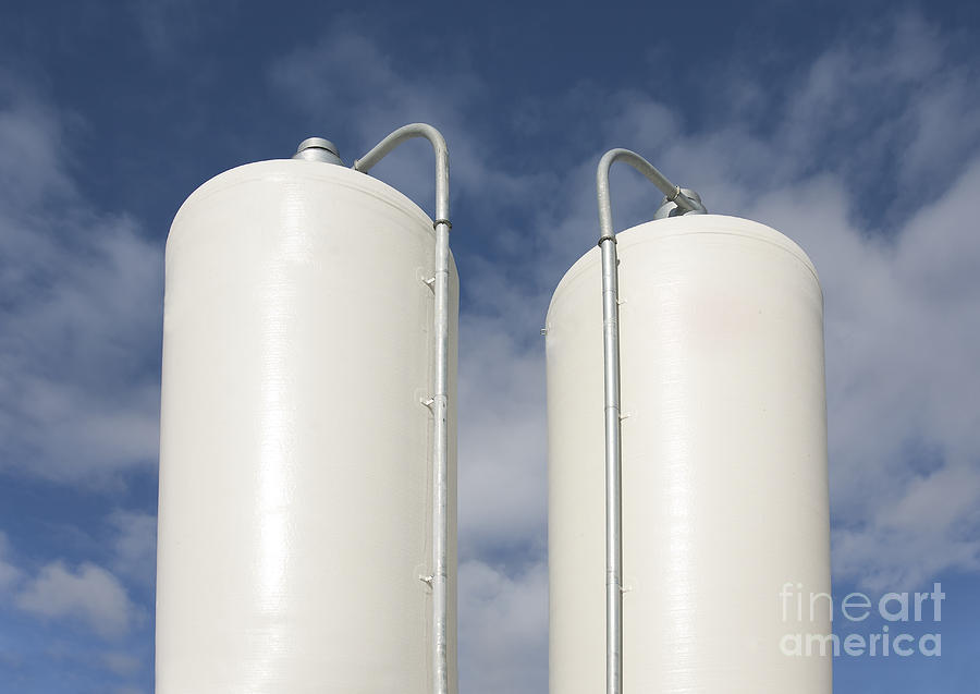 Cattle Feeding Tanks Photograph  - Cattle Feeding Tanks Fine Art Print