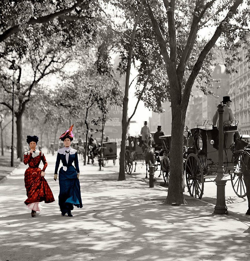 Catwalk In New York 1901 Photograph  - Catwalk In New York 1901 Fine Art Print