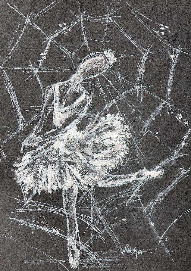 Ballet Drawing - Caught In A Web  by Sladjana Lazarevic
