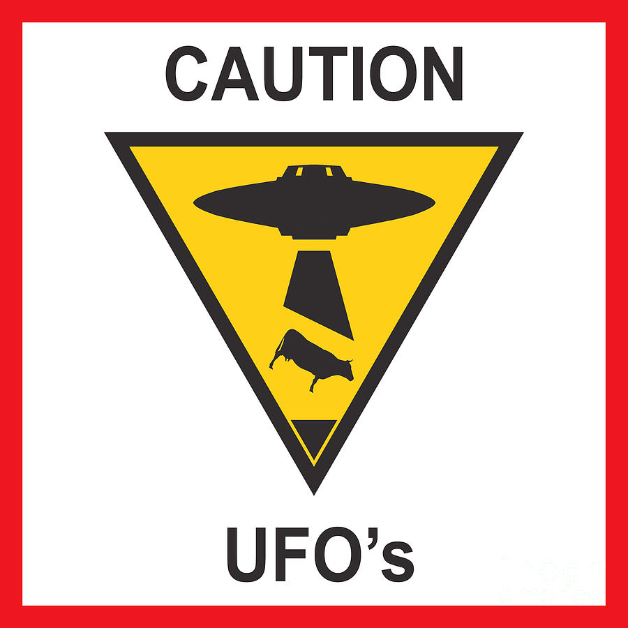 Caution Ufos Digital Art