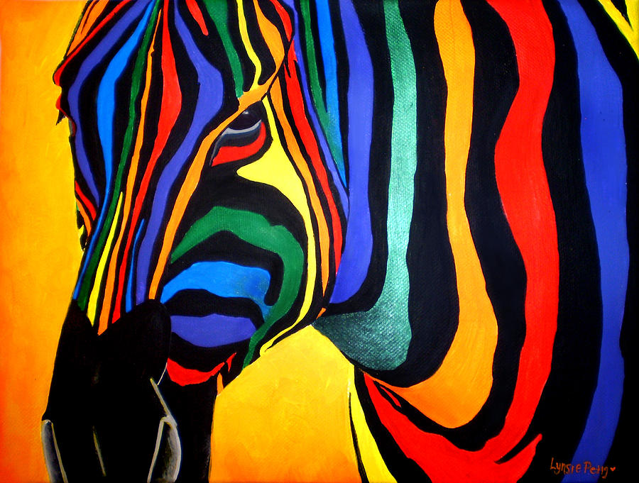 The Titel Of The Painting Means horse Of Color In Italian Painting - Cavallo Di Colore by Lynsie Petig