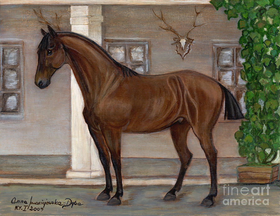 Cavalry Horse Painting