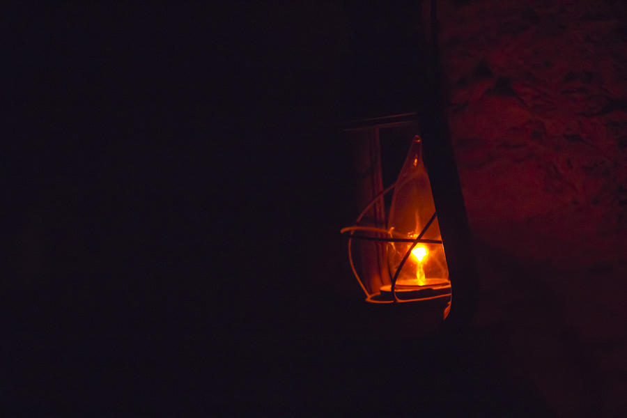 Cave Darkness And The Lantern Photograph By Nicholas Evans