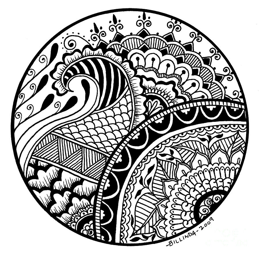 Circle fantasy pen drawing by Christiaan Linford | CD cover ...