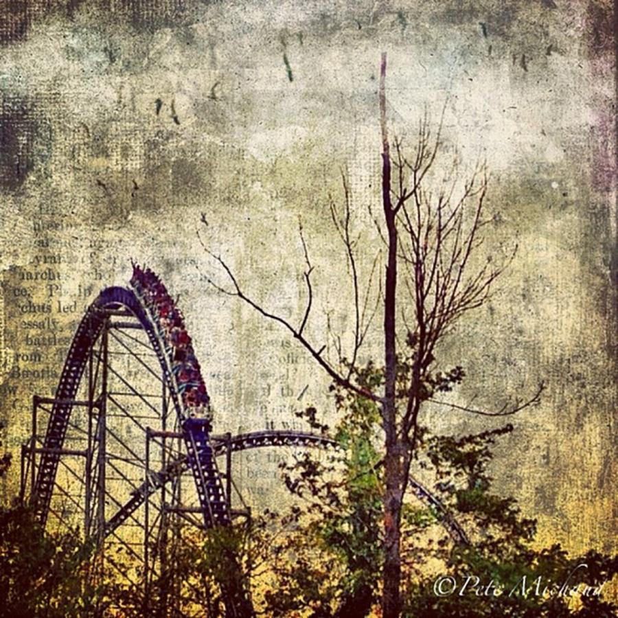 Cedarpoint Photograph - #cedarpoint #rollercoaster #ohio by Pete Michaud