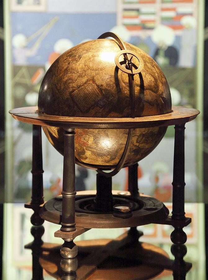 Equipment Photograph - Celestial Globe, 17th Century by Detlev Van Ravenswaay