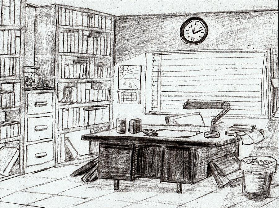 Drawing Lines In Office : Celine s office by kenya thompson