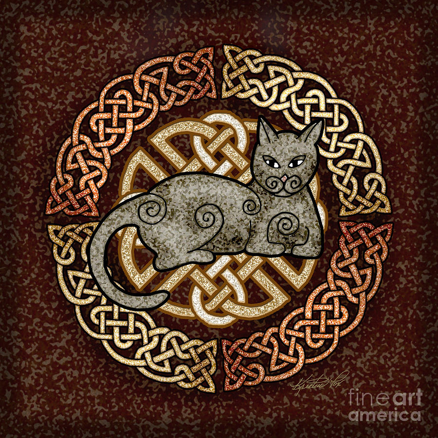 Celtic Cat By Kristen Fox