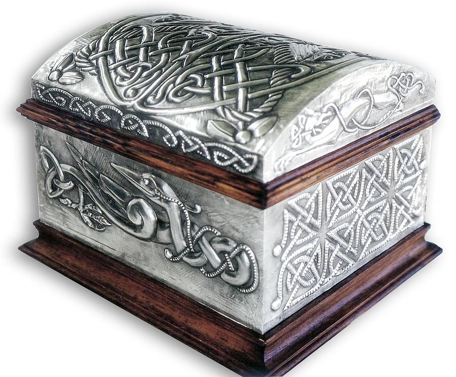 Celtic Chest 1 Relief  - Celtic Chest 1 Fine Art Print