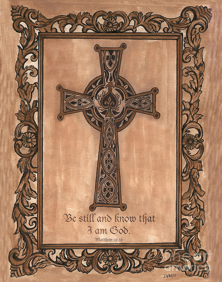 Celtic Cross Painting  - Celtic Cross Fine Art Print