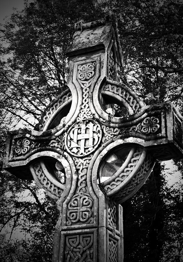 Celtic Cross Detail Killarney Ireland Photograph