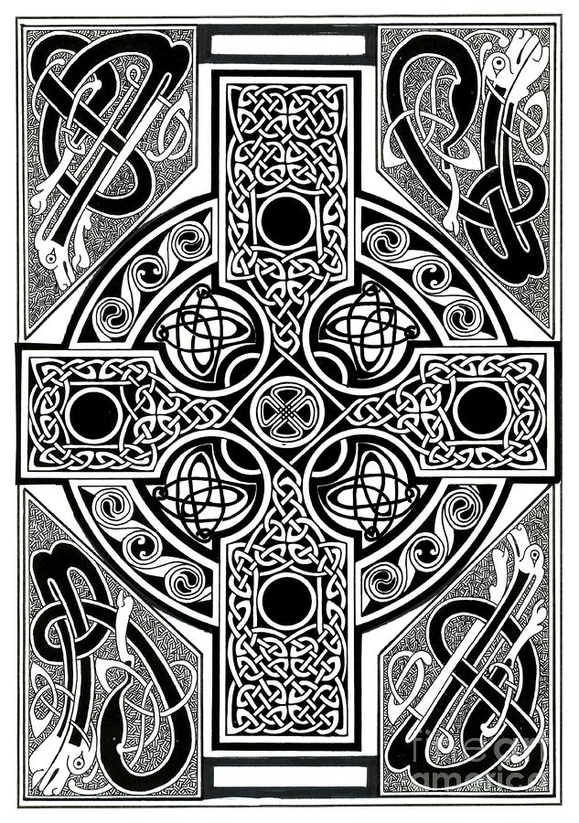 Celtic Cross Tapestry Painting